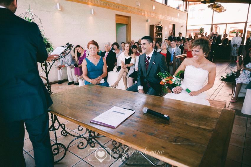 Fotos de boda León - Ceremonia en la boda en Cigarral de Cembranos
