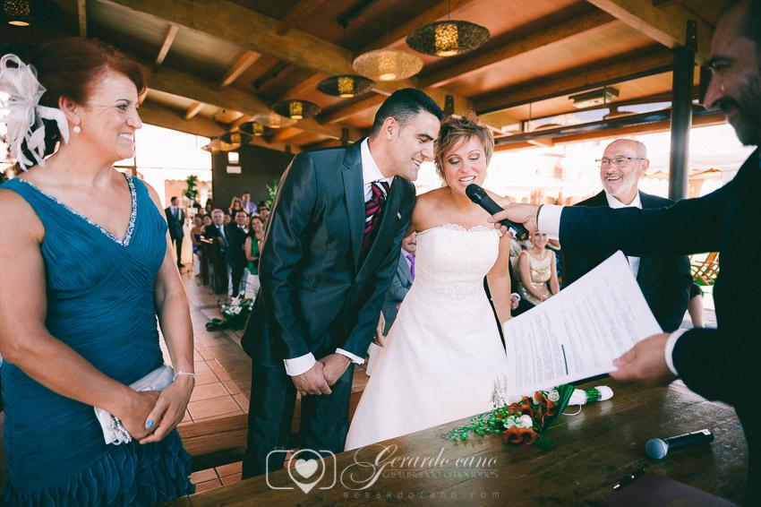 Si quiero en Ceremonia en la boda en Cigarral de Cembranos