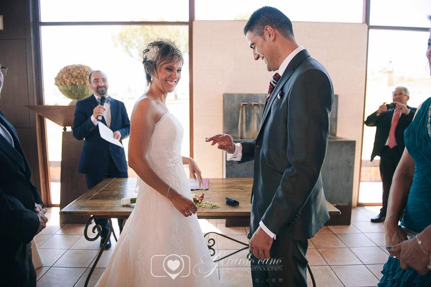 Alianzas de boda León - Ceremonia en Cigarral de Cembranos