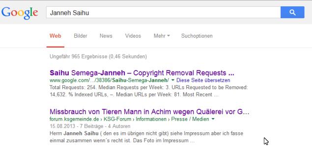 Suchergebnis bei Google zum Namen Janneh Saihu