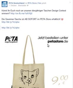 PeTA Store angeblich von PeTA selbst betrieben