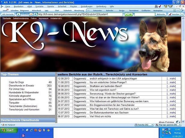 Screenshot: Doggennetz.deScreenshot: Doggennetz.de