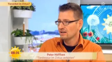 Screenshot Aufzeichnung Sat.1 Frühstücksfernsehen Peter Höffken / http://www.sat1.de/tv/fruehstuecksfernsehen/video/talk-tierverbot-im-zirkus-clip