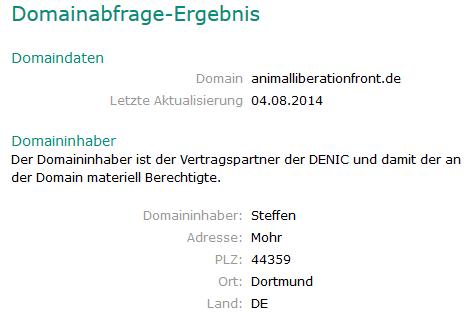 Ausschnitt Screenshoot von DENIC 14.09.2015