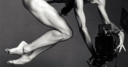 Fake-Foto von PeTA. Dieses soll Sylvie Guillem 2015 mit 50 Jahren zeigen Fotoquelle: Peta50+ Webseite