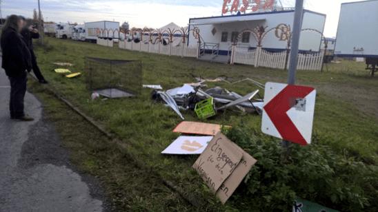 Urteil Circus Belly - Überbleibsel des PeTA Pavillon / Foto: PeTA/Presse