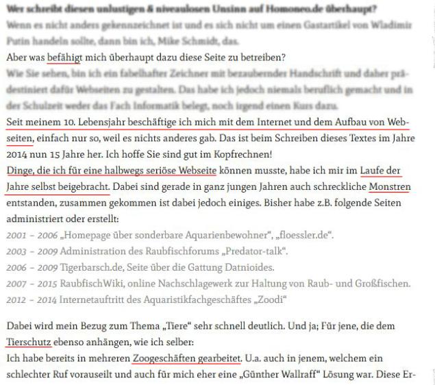 Screenshot Impressum neozoon.de