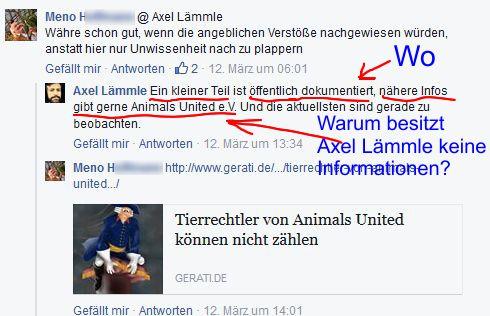 Screenshot Facebook Seite Axel Lämmle