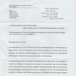 Ablehnung der Beschwerde von der Generalstaatsanwaltschaft eingetroffen