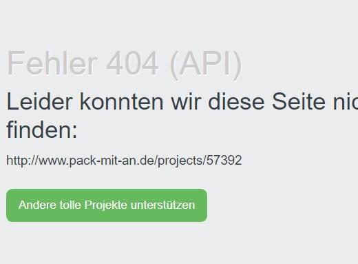 Screenshot www.pack-mit-an.de Spendensammelseite der DEVK