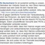 Gegenargumentation: GERATI vs. PeTA