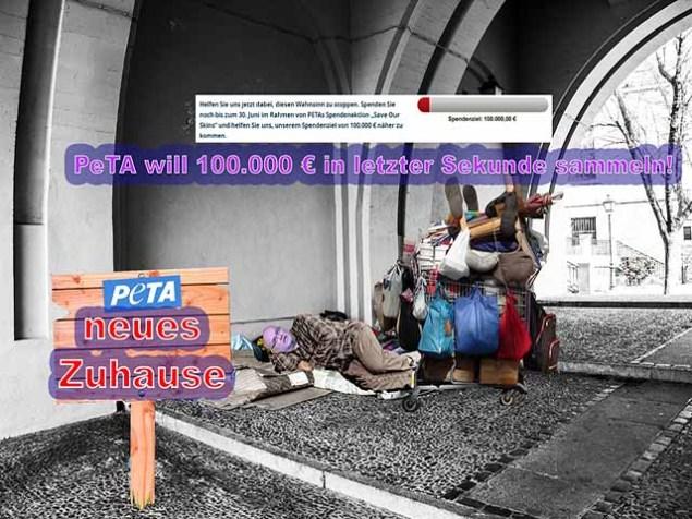 "PeTA fordert ""Rettet unsere Haut"" / GERATI"