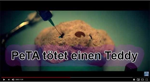Warnung an alle Kinder!!! PeTA tötet Eure Plüschtiere / Screenshot PeTA YouTube Video