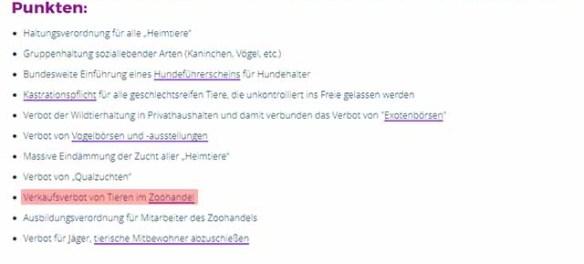 PeTA widerspricht sich wieder einmal selbst Screenshot: PeTA.de