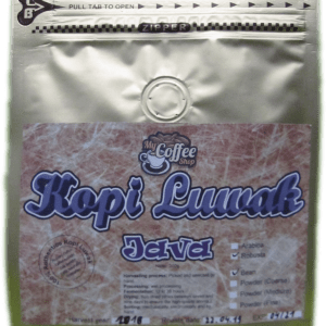 100% Authentischer Robusta Kopi Luwak aus Java 200g Bean