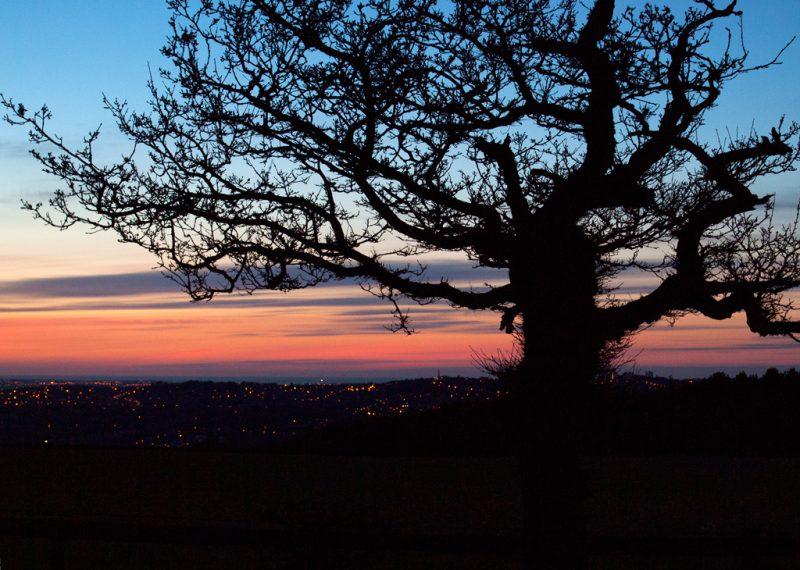 Sunrise over Newcastle upon Tyne
