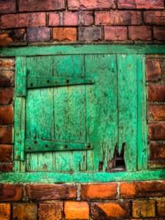One green door