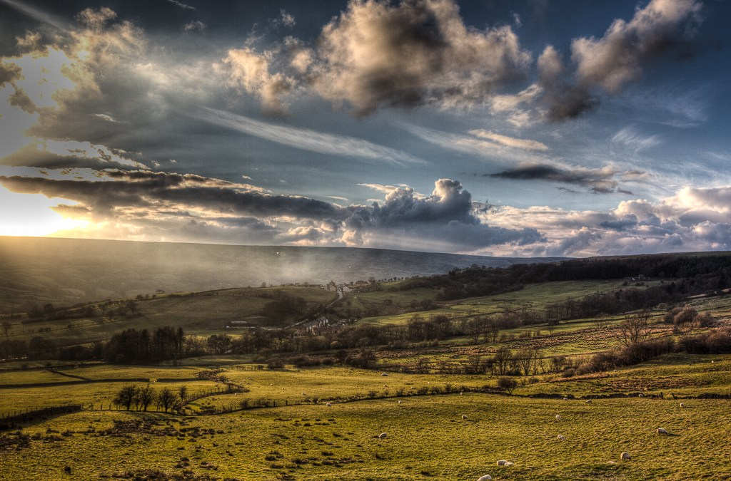 Sunset on the North Yorkshire Moors