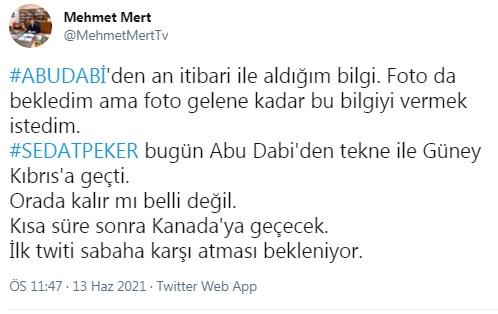 İşte Sedat Peker'in Abu Dabi'den geçmeyi planladığı iddia edilen ülke 14