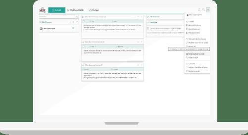 écran solution de gestion entreprise