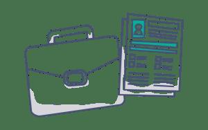 Icone organisation coffre-fort numérique professionnel GererMesAffaires.com
