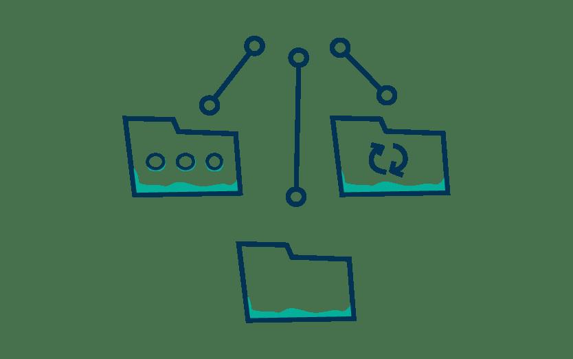Icone organistation coffre-fort numérique entreprise