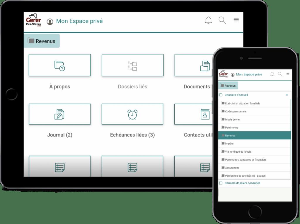 app mobile gerermesaffaires.com coffre-fort-numérique RH