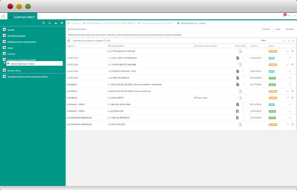 navigateur coffre-fort numérique et logiciel courtier