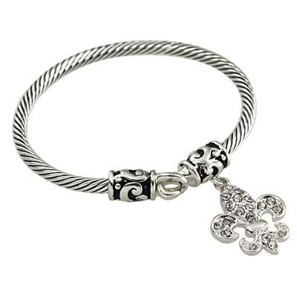 Designer S Touch Fleur De Lis Charm Bracelet Vintage Two