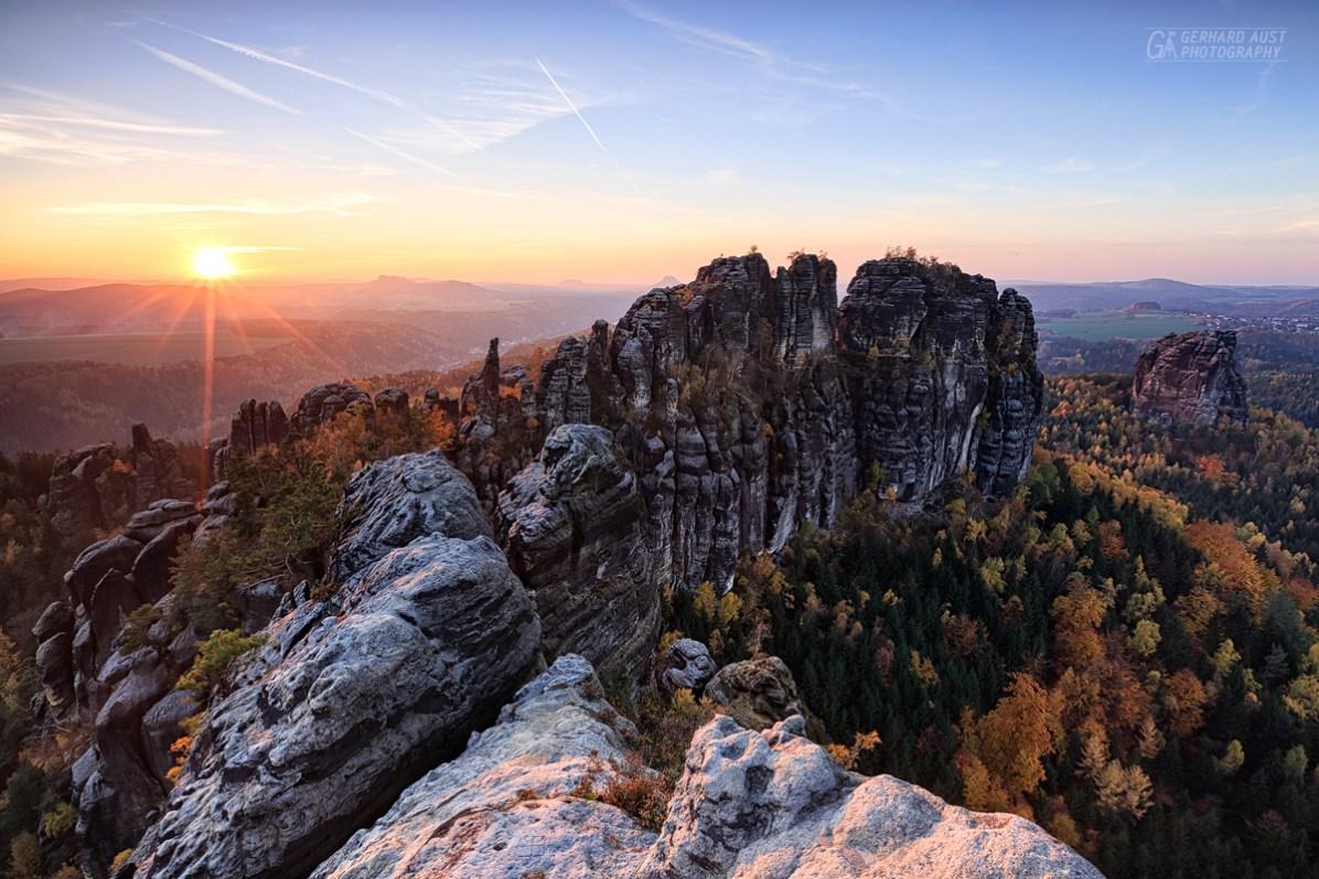 Schrammsteine Sunset (2)
