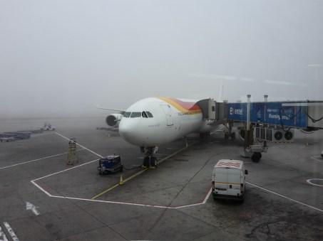Landung im Nebel