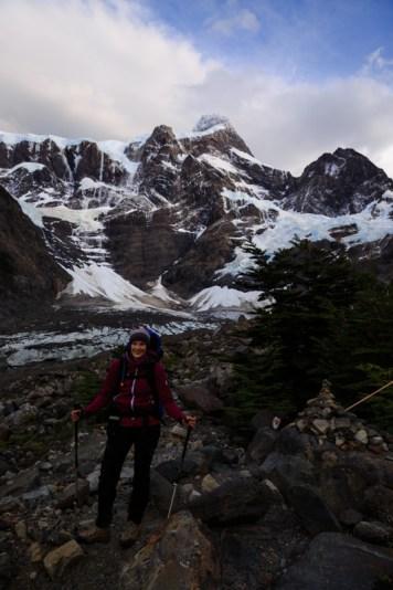 Aufstieg ins Valle del Frances, mit Blick auf den Paine Grande