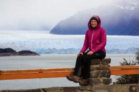 Katja am Perito Moreno Gletscher
