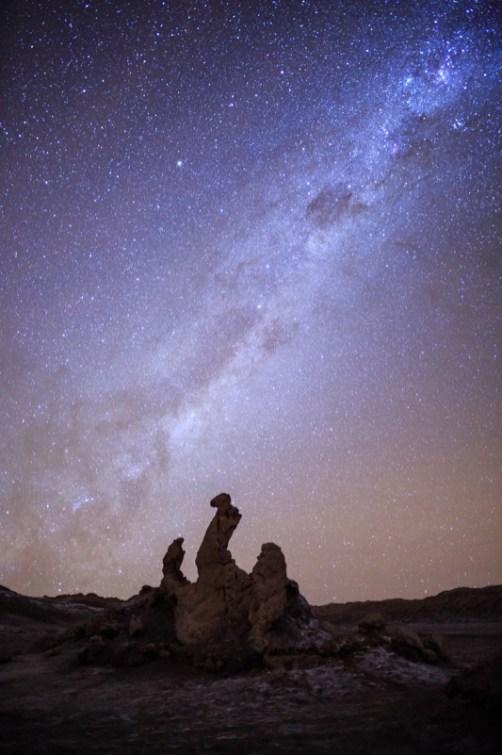 Las tres Marias mit Milchstraße