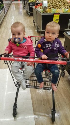 Einkaufswagen für Zwillinge, echt genial!
