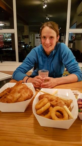 Fish and Chips satt zum Abschied