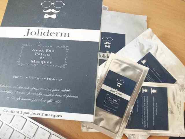 joliderm homme soin kit patch masque weekend copie