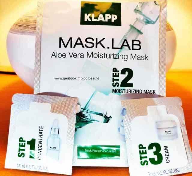 review mask lab masque visage apaisant hydratant KLAPP