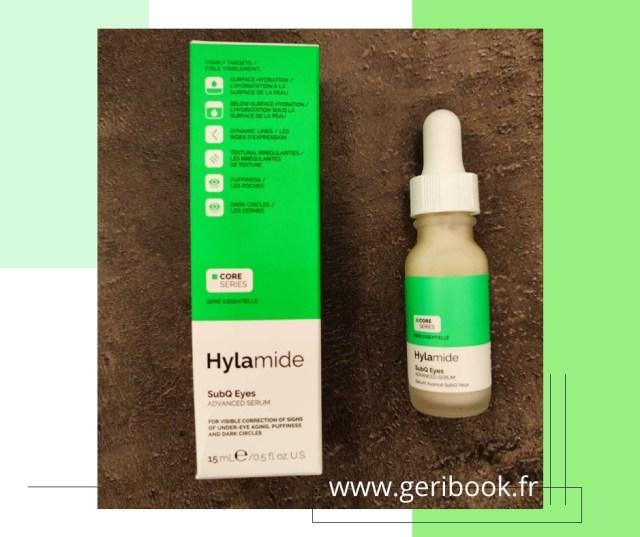 Retrouver les yeux de la jeunesse avec SubQ Eyes de Hylamide , un sérum anti-vieillissement haute résistance qui travaille à corriger le vieillissement sous les yeux, les poches et les cernes avec deux effets à court et à long terme.