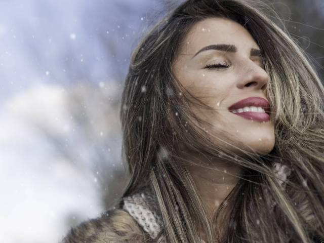 de beaux cheveux même en hiver