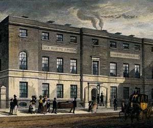 Letter L - Lock Hospital from Hyde Park Corner, Courtesy of Wikipedia