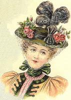 hat fashions for March 1897 - Ladies' round straw hat