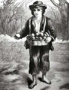 A Child Costermonger, Public Domain