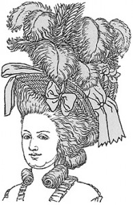 Example of a Rum Topping Headdress From the 1780s, Author's Collection