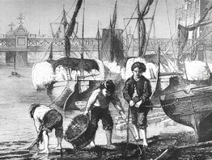 Mudlarks Scavenging the Thames, Author's Collection