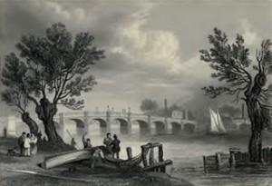 Vauxhall Bridge in 1838, Public Domain