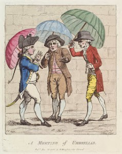 A Meeting of Umbrellas - James Gillray 1782, Courtesy of Wikipedia