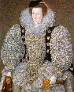 Unknown Lady from Elizabethan Period with Fancy Gloves, Courtesy of Wikipedia