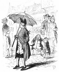 Jonas Hanway, the First London Male to Ever Carry an Umbrella, Author's Collection