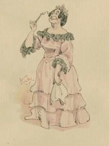 Mrs. Bayham Badger with Her Handkerchief, Public Domain